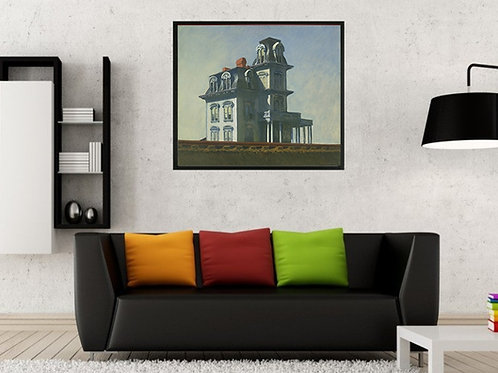 Edward Hopper,A Casa da Ferrovia,cidade,estrada de ferro,quadro,poster,replica,canvas,gravura,reprodução,tela,fototela,pintur