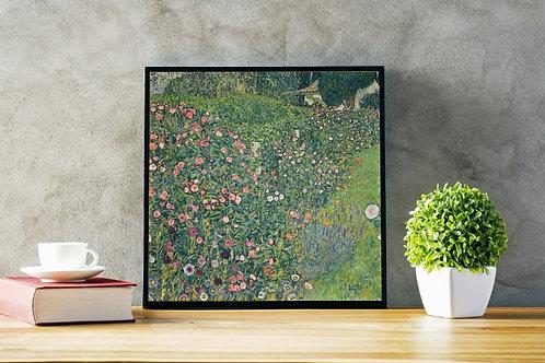 gustav klimt, Jardim Italiano, quadro, poster, gravura, replica, canvas, reprodução, gravura, tela, releitura