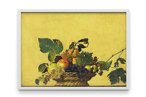 Caravaggio, Cesta de Frutas, Basket of Fruits, quadro, poster, replica, canvas, gravura, reprodução, tela