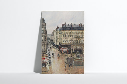 Pissaro,Rua Saint-Honoré tarde,Rue Saint Honore, After,quadro,reprodução,poster,canvas,gravura,replica,fototela,tela,pintura