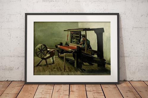 Van Gogh,Tecelão,Weaver,1884,poster,gravura,reprodução,canvas,replica,fototela