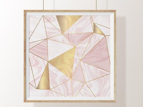 Quadro, Poster, Gravura,Escandinavo, Geométrico, Minimalista,  Canvas, Tela, marmorizado, rosa, cinza, abstrato, decorativo