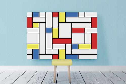 Mondrian, Composição, Amarelo, Vermelho, Azul, quadro, reprodução, poster, canvas, gravura, replica, fototela, tela, pintura