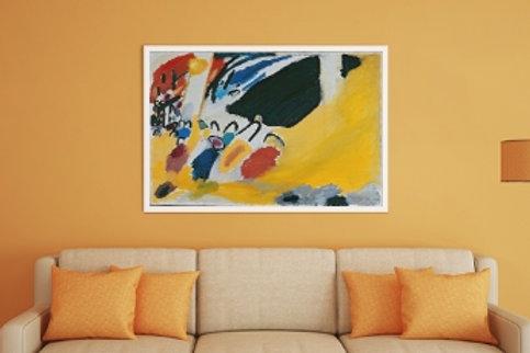 wassily Kandinsky, impressão III, Impression III, poster, gravura, reprodução, canvas, replica, releitura