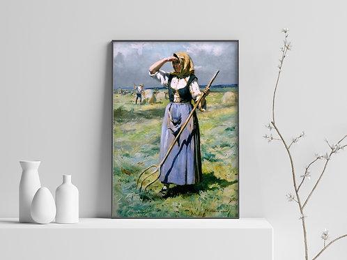 Julien Dupré,A Ceifa,paisagem,sitio,fazenda,chacara,quadro,poster,replica,canvas,gravura,reprodução,tela,releitura,fototela