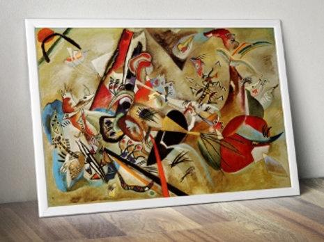wassily kandinsky, em cinza, in grey, poster, gravura, reprodução, canvas, replica, releitura