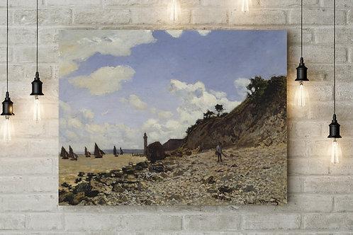 monet, O Mar do Grand Palais em Honfleur, quadro, poster, gravura, canvas, replica, reprodução, fototela,tela,pintura