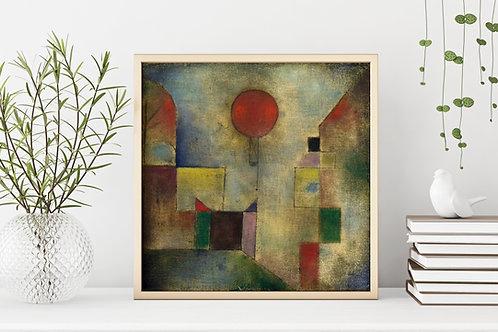 Paul Klee, Balão Vermelho, Red Ballon, quadro, poster, gravura, canvas, replica,reprodução,fototela,tela,pintura