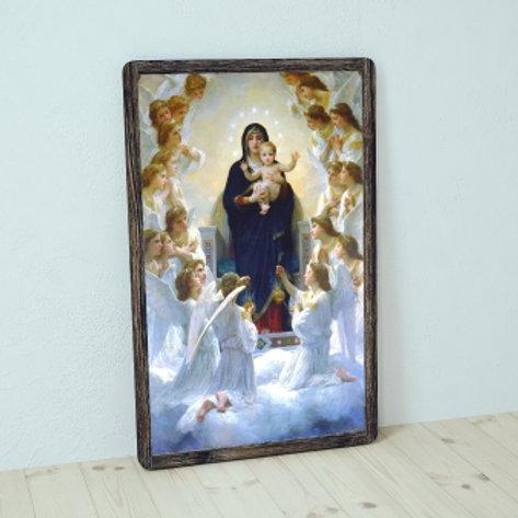 Bouguereau, A Virgem com Anjos, quadro, reprodução, poster, canvas, gravura, replica, tela