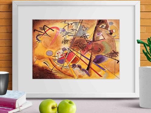 Wassily Kandinsky, pequeno sonho em vermelho, Small Dream in Red, 1925, poster, gravura, reprodução, canvas, replica