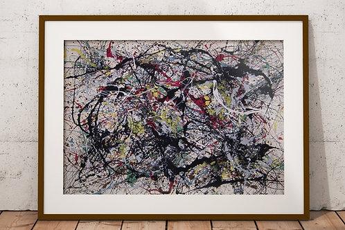 Jackson Pollock,Numero 34 ,quadro, canvas,poster,replica,gravura,reprodução,fototela,tela,pintura,releitura
