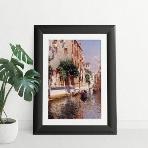 rubens santoro St. Apostoli Canal, Venice, quadro, Poster, gravura, canvas, Réplica, Reprodução, releitura