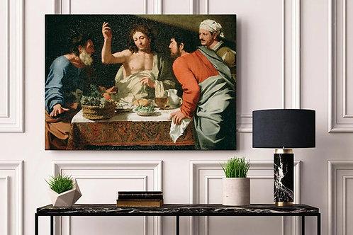 Bartolomeo Cavarozzi,Ceia em Emaus,the supper at emmaus,quadro,poster,gravura,replica,canvas,fine art,pintura,tela