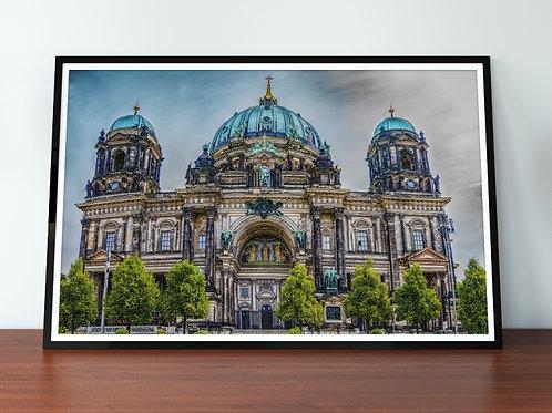 Catedral de Berlim,fotografia,ponto turístico,Itália,quadro,canvas,poster,replica,gravura,reprodução,fototela,tela