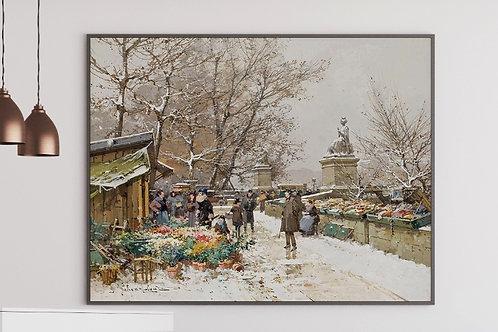 Eugène Galien-Laloue, Un Coin de Quai, quadro, poster, replica, canvas, gravura, reprodução, tela, fototela