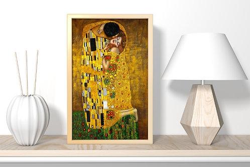 gustav klimt, beijo, kiss, quadro, poster, gravura, replica, canvas, reprodução, gravura, tela, releitura