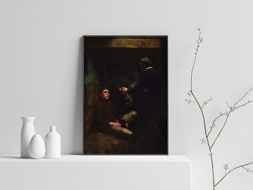Henry Scott Tuke,O Fio do Marinheiro,A Sailor's Yarn, quadro,reprodução,poster,canvas,gravura,replica,fototela,tela,pintura