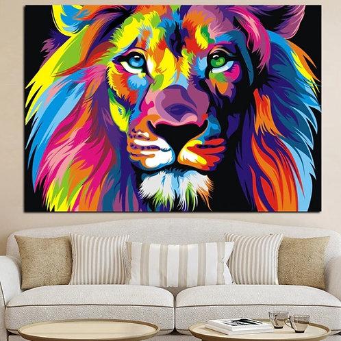 quadro decorativo, moderno, colorido, leão de judá, quadro, poster, gravura, replica, canvas, reprodução, gravura, tela