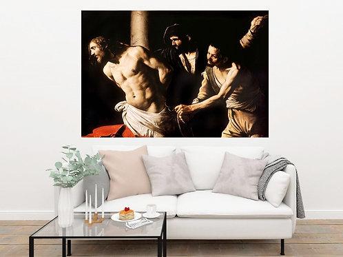 Caravaggio,A Flagelação de Cristo,quadro,reprodução,poster,canvas,gravura,replica,fototela,tela,pintura,releitura