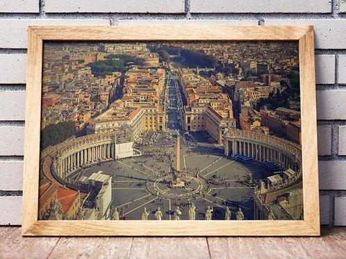 quadros fotográficos,para,sala,quadros para parede,quadros decorativos ponto turístico,Praça São Pedro,Vaticano