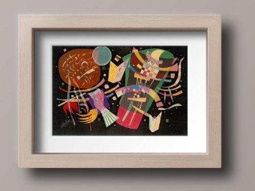 wassily, Kandinsky, Composição X, composition X, poster, gravura, reprodução, canvas, replica, releitura