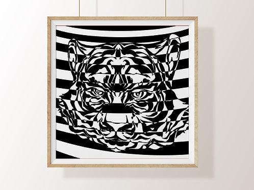 Quadro,3d, Poster, Gravura, Op Art,Arte Ótica,ilusão ótica,Minimalista, Canvas, branco, preto, abstrato, decorativo, fototela