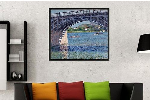 Gustave Caillebotte, A Ponte de Argenteuil, Sena,quadro, poster, replica, canvas, gravura, reprodução,tela,releitura,fototela