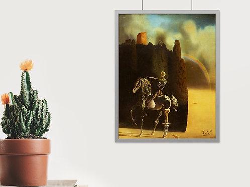 Salvador Dalí,O Cavaleiro da morte,The Knight Of Death,1934,quadro,poster,réplica,canvas,gravura,reprodução,tela,fototela