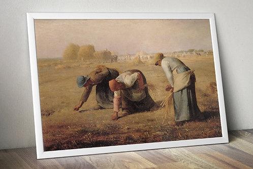 Jean-François Millet, As Respigadoras, camponeses,quadro, poster, gravura, canvas, réplica, reprodução, foto,tela,fototela