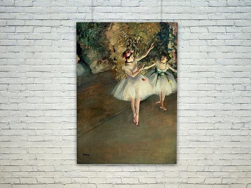edgar degas, Duas Bailarinas, quadro, poster, canvas, reprodução, gravura, replica, tela, releitura