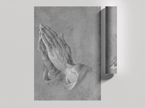 Albrecht Durer,Mãos que Oram,Mãos em Oração,Praying hands,quadro,reprodução,poster,canvas,gravura,replica,fototela