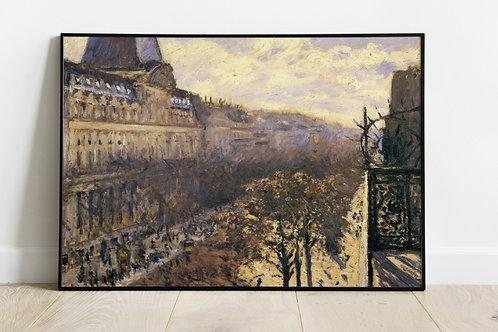 Gustave Caillebotte, Boulevard dos Italianos,quadro, poster, replica, canvas, gravura, reprodução,tela,releitura,fototela