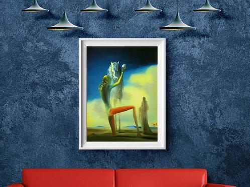 Salvador Dalí,O Cavaleiro da Morte,quadro,poster,gravura,replica,canvas,pintura,tela