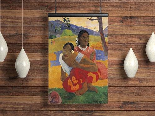 Gauguin,Quando Você Casa,Quando você vai se casará,quadro,poster,gravura,replica,canvas,reprodução,tela,fotela,pintura