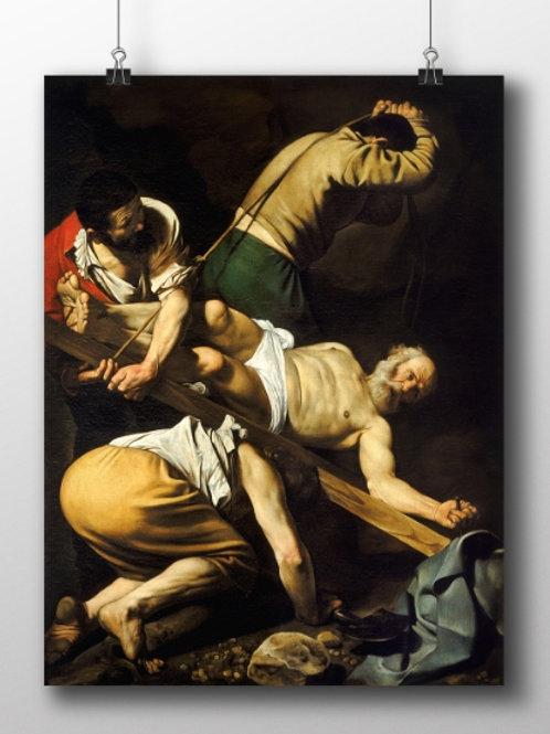 Caravaggio, Crucificação  de São Pedro, Martírio de São Pedro, quadro, poster, replica, canvas, gravura, reprodução, tela