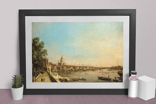 Canaletto,The Thames from Somerset House Terrace towards the City,quadro,poster,replica,gravura,canvas,reprodução,tela