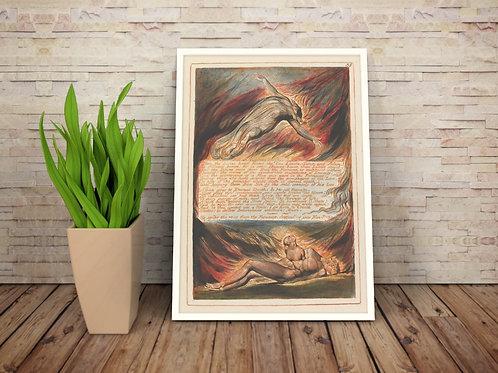 William Blake,A Descida de Cristo,The Descent Of Christ,quadro,canvas,poster,replica,gravura,reprodução,tela,pintura,giclee,