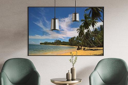 Paisagem,Praia,palmeiras,coqueiros,quadros fotográficos,para,sala,quadros para parede,quadro,poster,gravura,fototela,fotograf