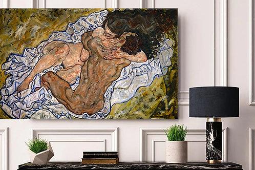 Egon Schiele,O Abraço,The Embrace,Die Umarmung,quadro,poster,gravura,replica,canvas,reprodução,fototela,pintura,tela