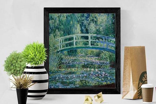monet, Water Lilies and Japanese Bridge, lírio de água e a ponte japonesa, quadro, poster, replica, canvas, reprodução, tela