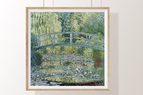 claude monet, lírio de água, ponte japonesa, nenúfares, ninfeias e a ponte japonesa, quadro, poster,replica,canvas,reprodução