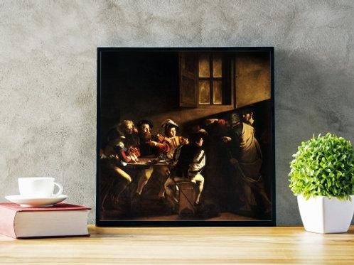 Caravaggio, A Vocação de São Mateus, quadro, poster, replica, canvas, gravura, reprodução, tela, releitura