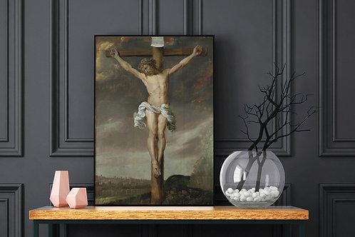 Rubens, Crucificação de Cristo, Christ of Crucifixion,quadro,poster, replica, gravura,reprodução,canvas,fototela,tela,pintura