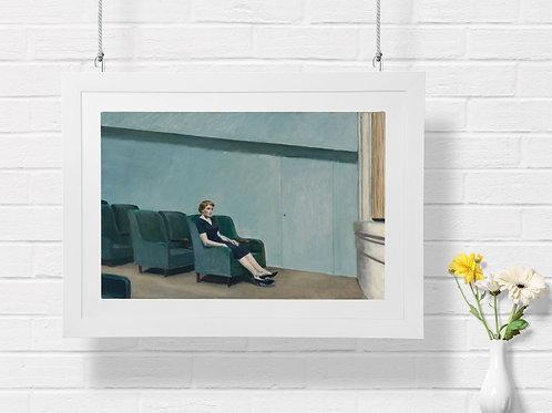 Edward Hopper,No Cinema, At Cinema,realismo,poster,gravura,reprodução,réplica,canvas,releitura,tela,pintura