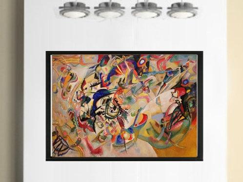 wassily kandinsky, composição VII, composition VII, poster, gravura, reprodução, canvas, replica, releitura