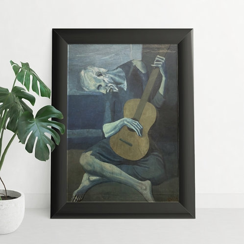 Picasso,O Velho Guitarrista Cego,quadro,reprodução,poster,canvas,gravura,replica,fototela,tela,pintura,releitura