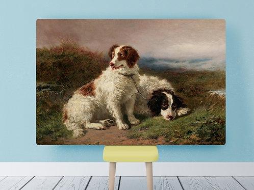 Henry Garland, Dois Cachorros, cachorro, quadro, poster, gravura, reprodução, canvas, replica, fototela, foto tela