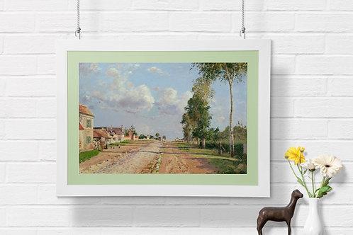 Camille Pissarro, Rota de Versailles,quadro,poster,replica,gravura,canvas, reprodução, tela, fototela, tela pintura,releitura
