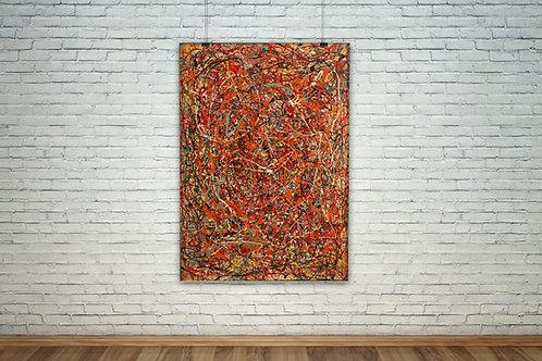 Pollock,abstrato,vermelho,fúria,fury,quadro, poster, replica, canvas, gravura, reprodução, tela, releitura,pintura