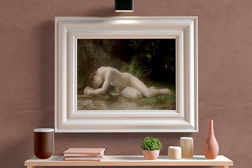Bouguereau,Biblis,Mulher,Nua,mitologia,quadro,poster,replica,gravura,canvas,reprodução,tela,pintura,parede,decoração